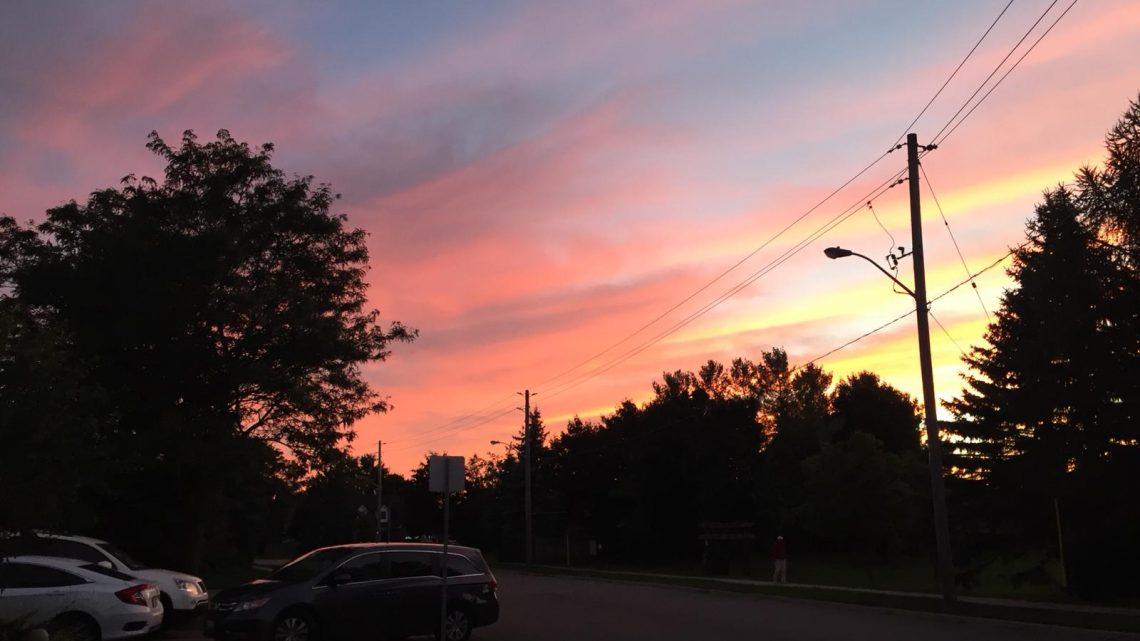 Kanadische Sonnenuntergänge